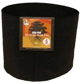 Gro Pro Gro Pro Essential Round Fabric Pot - Black 5 Gallon