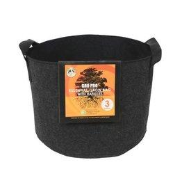 Gro Pro Gro Pro Essential Round Fabric Pot w/ Handles 3 Gallon - Black