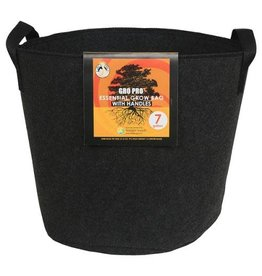 Gro Pro Gro Pro Essential Round Fabric Pot w/ Handles 7 Gallon - Black