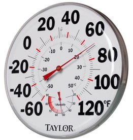 """Taylor Precision Products 12"""" Temperature/Humidity Gauge"""