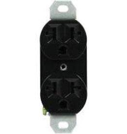 Hawthorne 120/240 20A-Universal Duplex Outlet Black