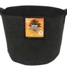 Gro Pro Gro Pro Essential Round Fabric Pot w/ Handles 10 Gallon - Black