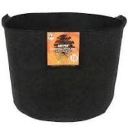 Gro Pro Gro Pro Essential Round Fabric Pot w/ Handles 15 Gallon - Black
