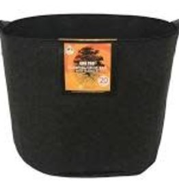 Gro Pro Gro Pro Essential Round Fabric Pot w/ Handles 20 Gallon - Black