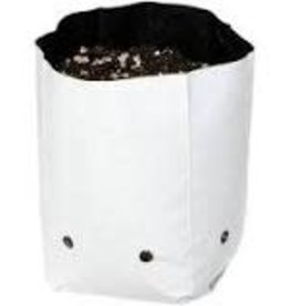 Hydrofarm Grow Bag, White/Black 1/2 gal,  pack of 30