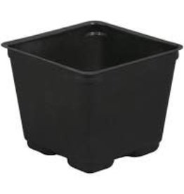 Gro Pro Gro Pro Square Plastic Pot Black 4 in