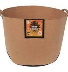 Gro Pro Gro Pro Essential Round Fabric Pot w/ Handles 20 Gallon - Tan