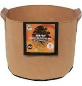 Gro Pro Gro Pro Essential Round Fabric Pot w/ Handles 5 Gallon - Tan