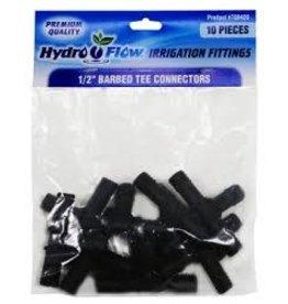 Hydro Flow Hydro Flow Premium Barbed Tee 1/2 in (10/Bag)