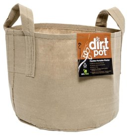 Dirt Pot Dirt Pot Flexible Portable Planter, Tan, 100 gal, with handles