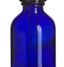 Uline Glass Dropper Bottles - 2 oz, Blue
