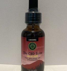 The CBD Store Glacier Full Spectrum CBD Oil (1oz, 1800mg) - Strawberry