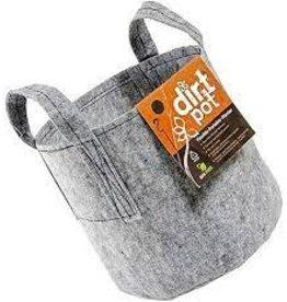 Dirt Pot Dirt Pot Flexible Portable Planter, Grey, 10 gal, with handles