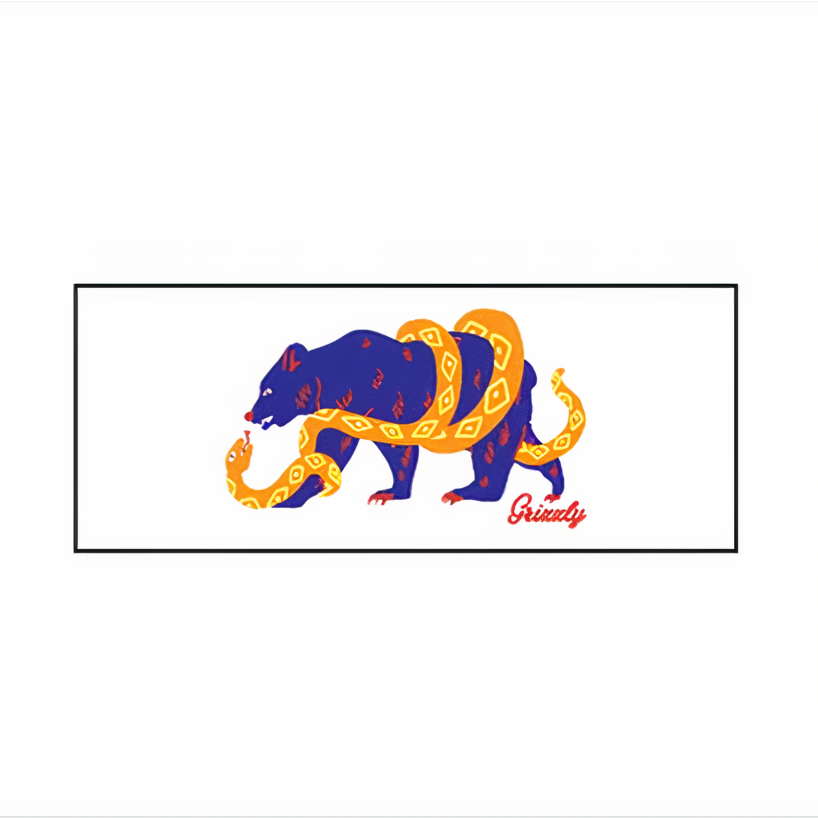 Grizzly Grizzly - XL Stamp Sticker Bear & Snake