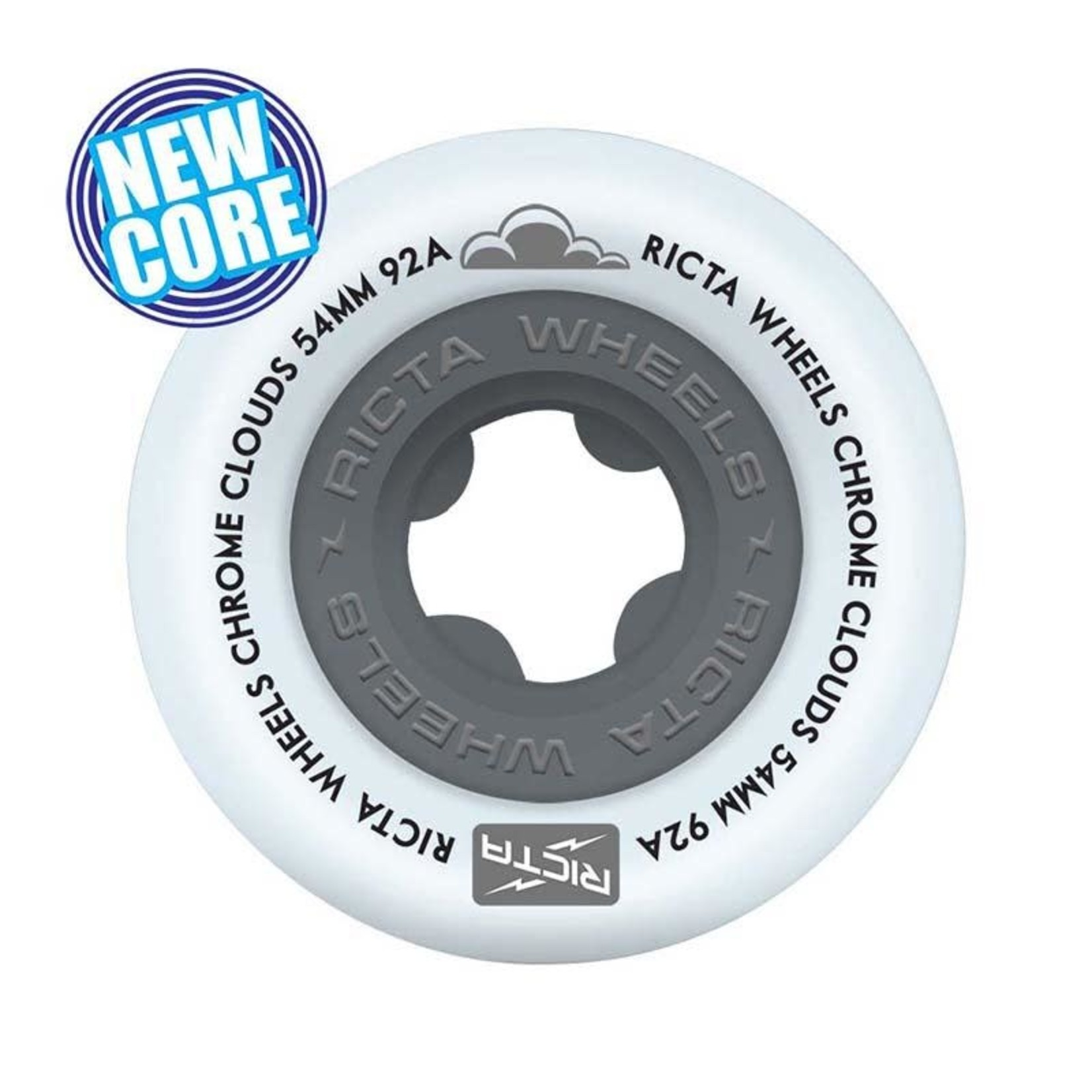 Ricta Ricta - Chrome Cloud Wheels Black 92A 54mm