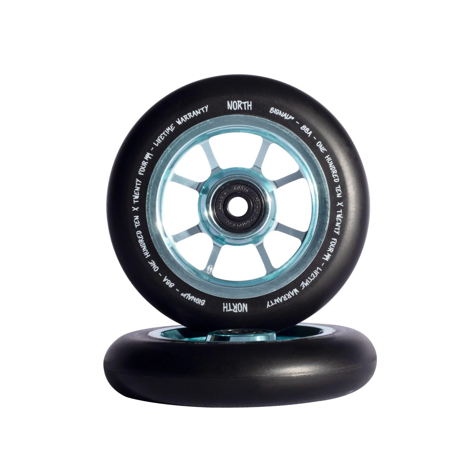 North North - Signal Wheels - 110 x 24mm - Black / Jade
