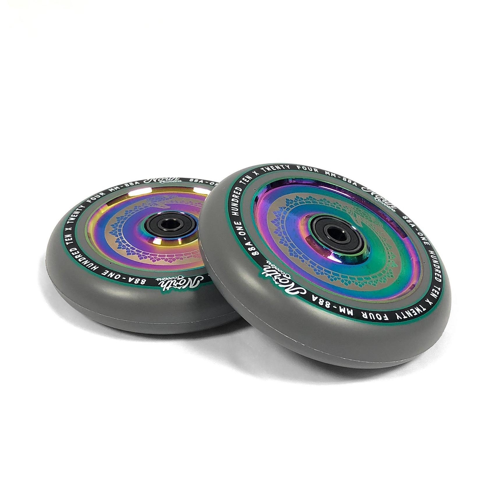 North North - Vacant Wheels - 110 x 24mm - Grey / Oil Slick