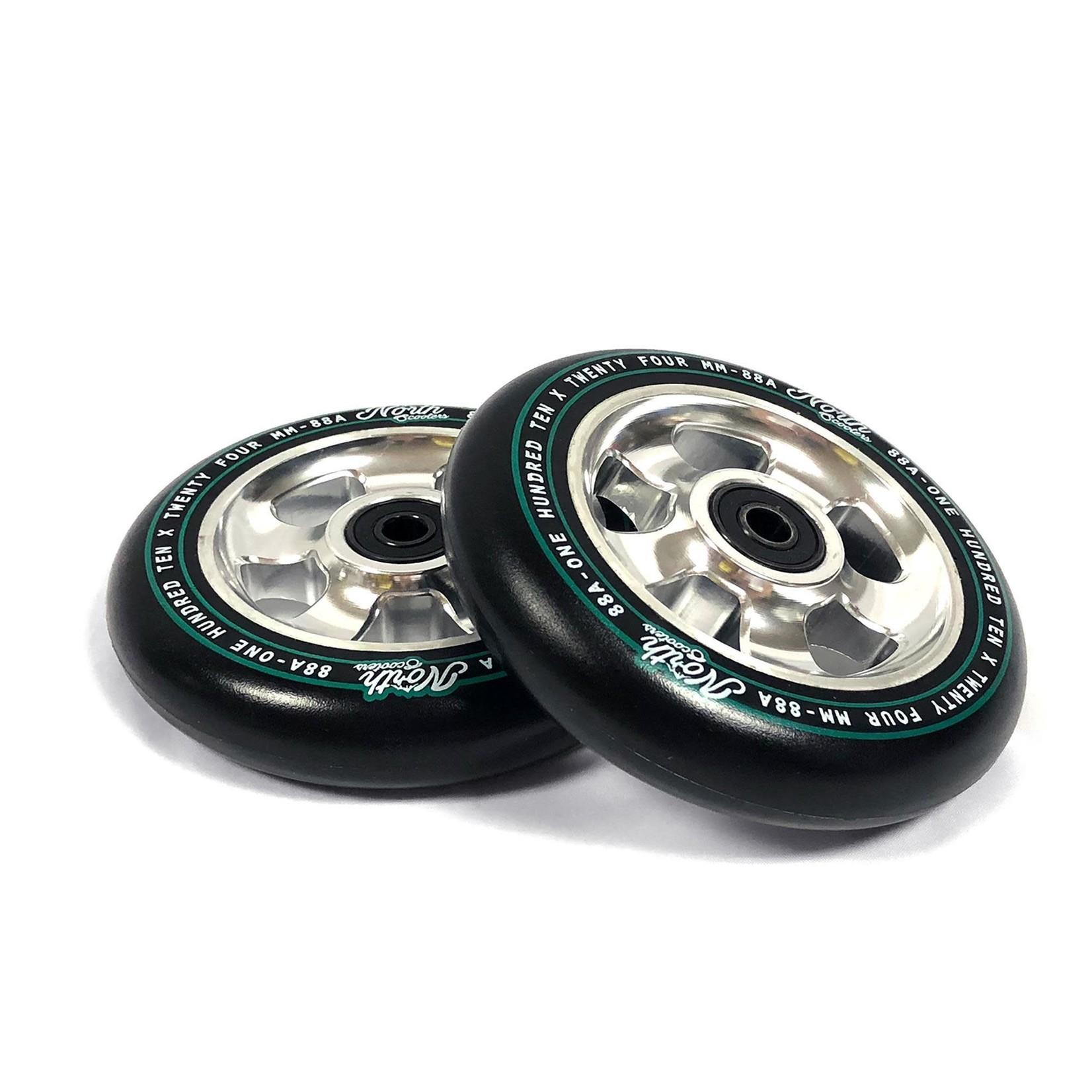 North North - HQ Wheels - 110 x 24mm - Black / Silver