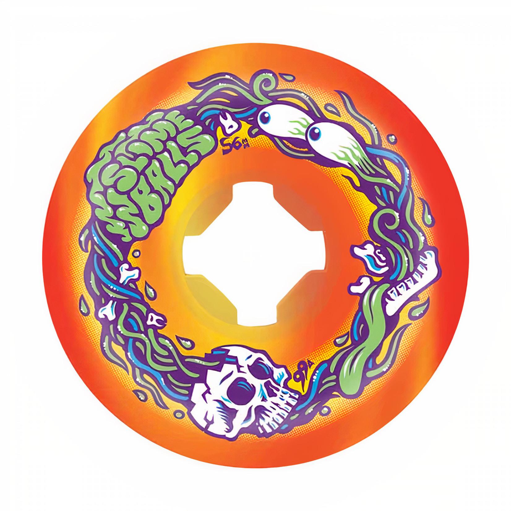 Slime Balls Slime Balls - Wheels - 99a Brains Speed Balls - Orange / Yellow 56mm
