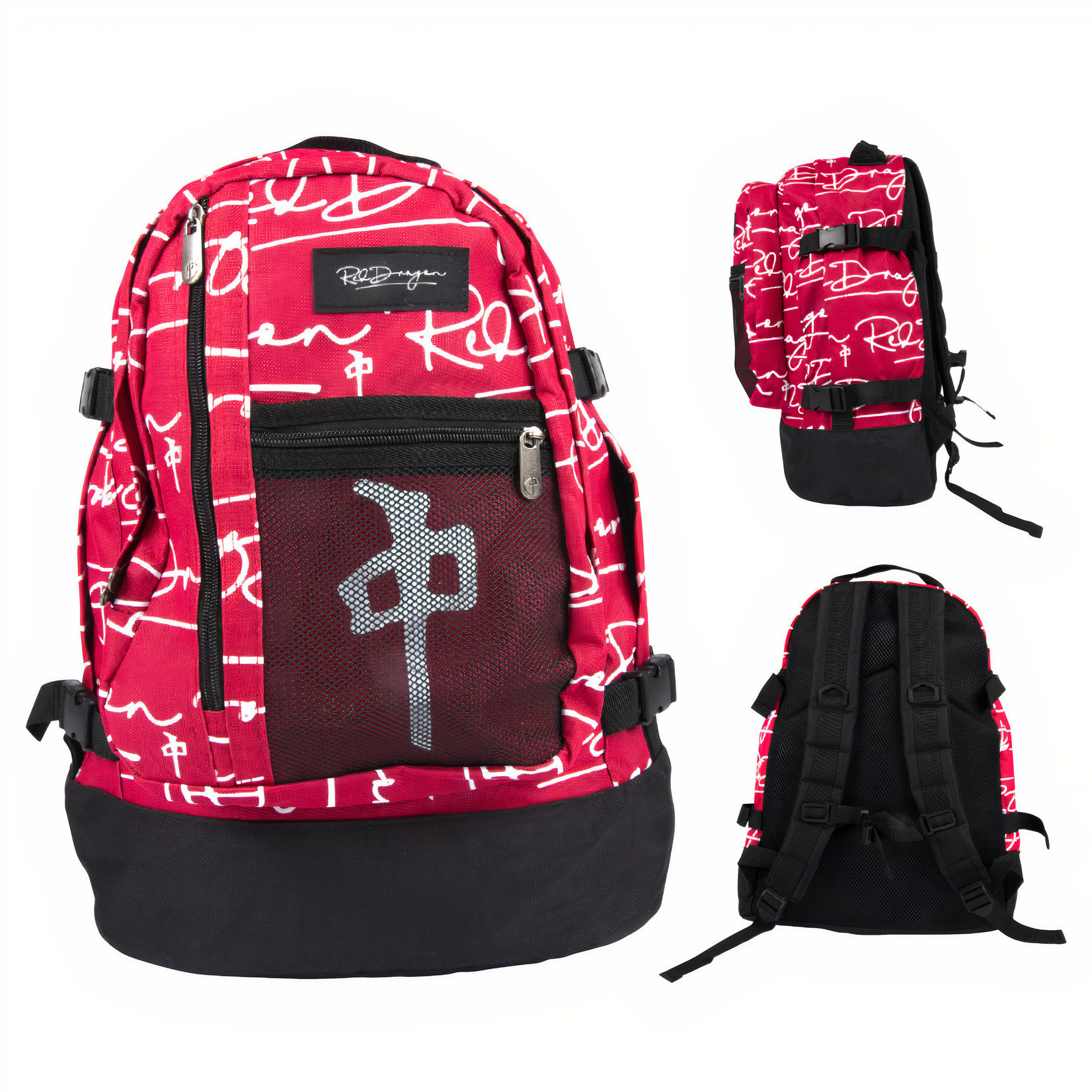 Red Dragon Apparel Red Dragon - Explorer Backpack - Red / White