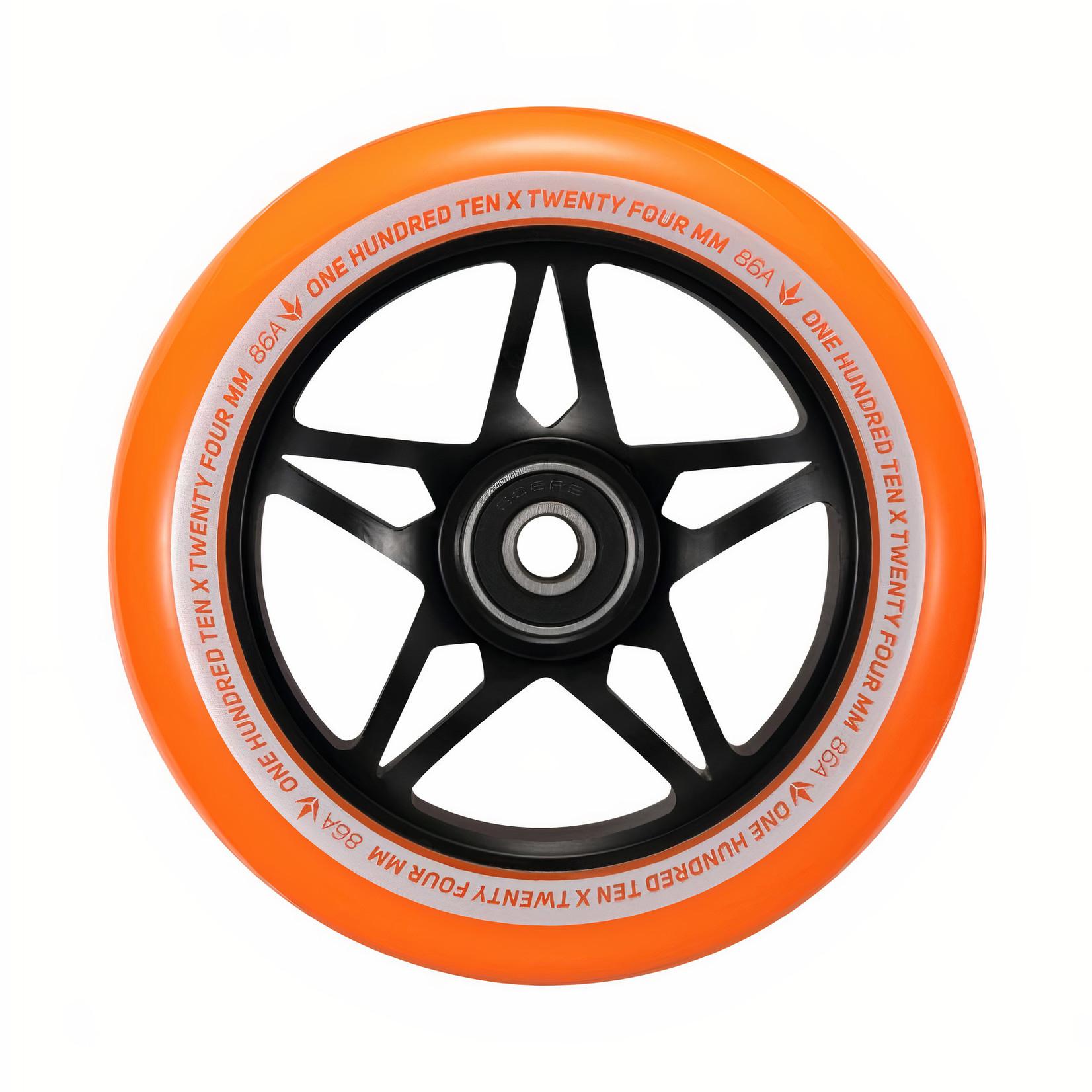 Envy Envy - 110mm S3 Wheel SINGLE - Black / Orange