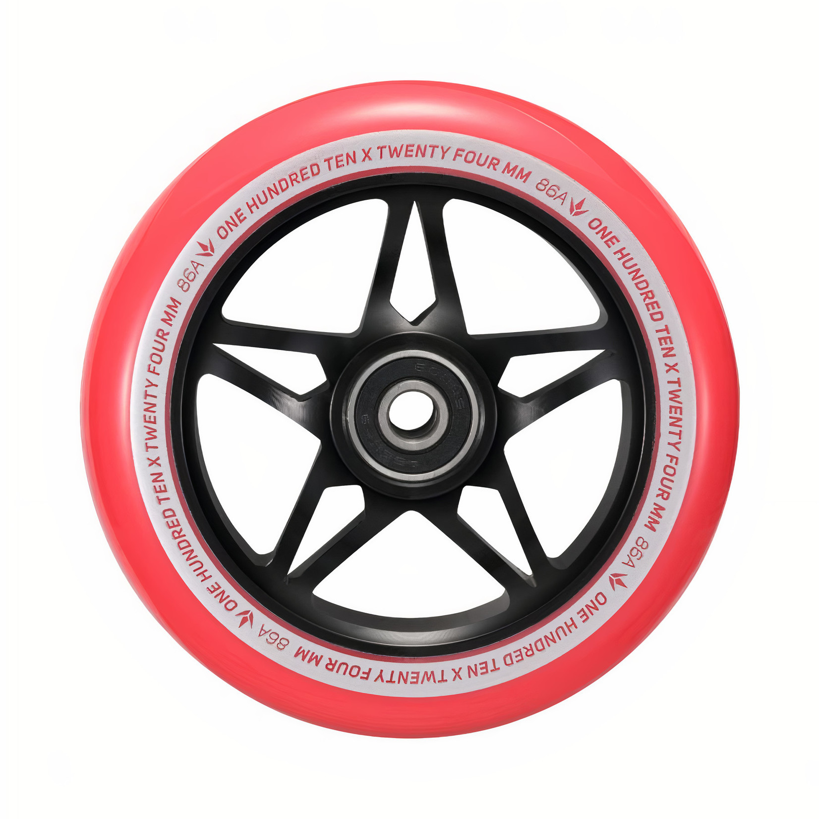 Envy Envy - 110mm S3 Wheel SINGLE - Black / Red