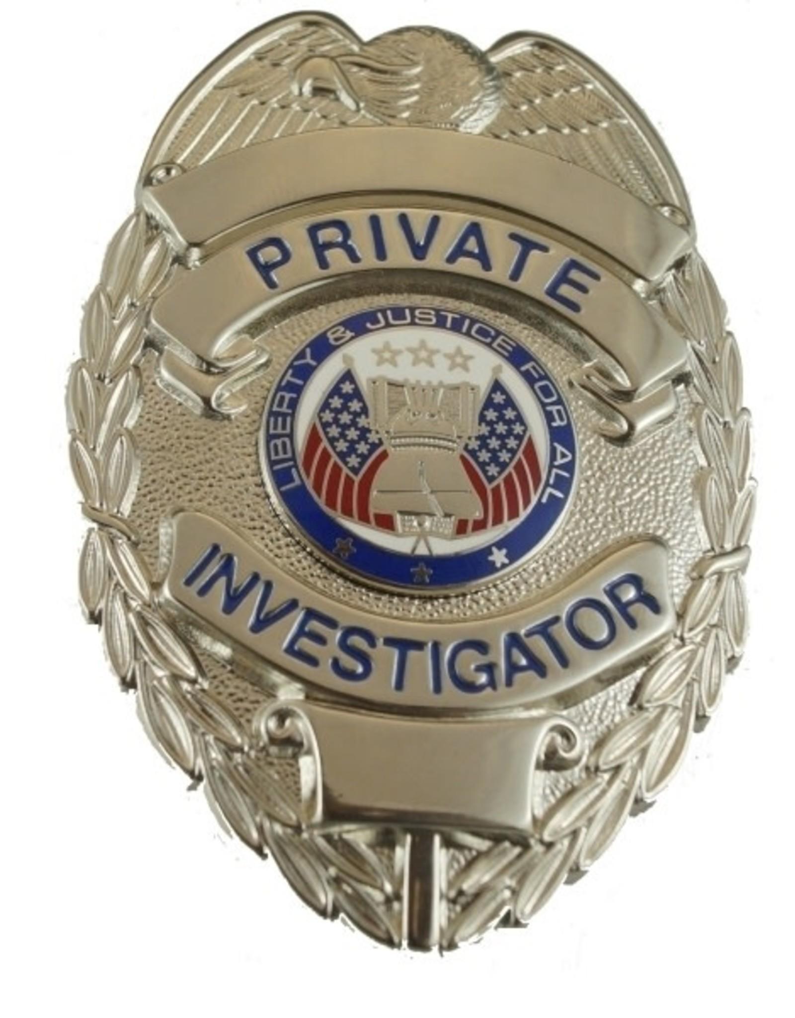 Hero's Pride Hero's Pride Silver & Black Security Officer Badge, Traditional