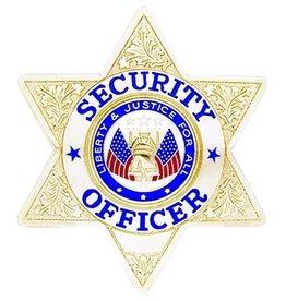 Hero's Pride Hero's Pride Security Officer 6 pt Gold Star
