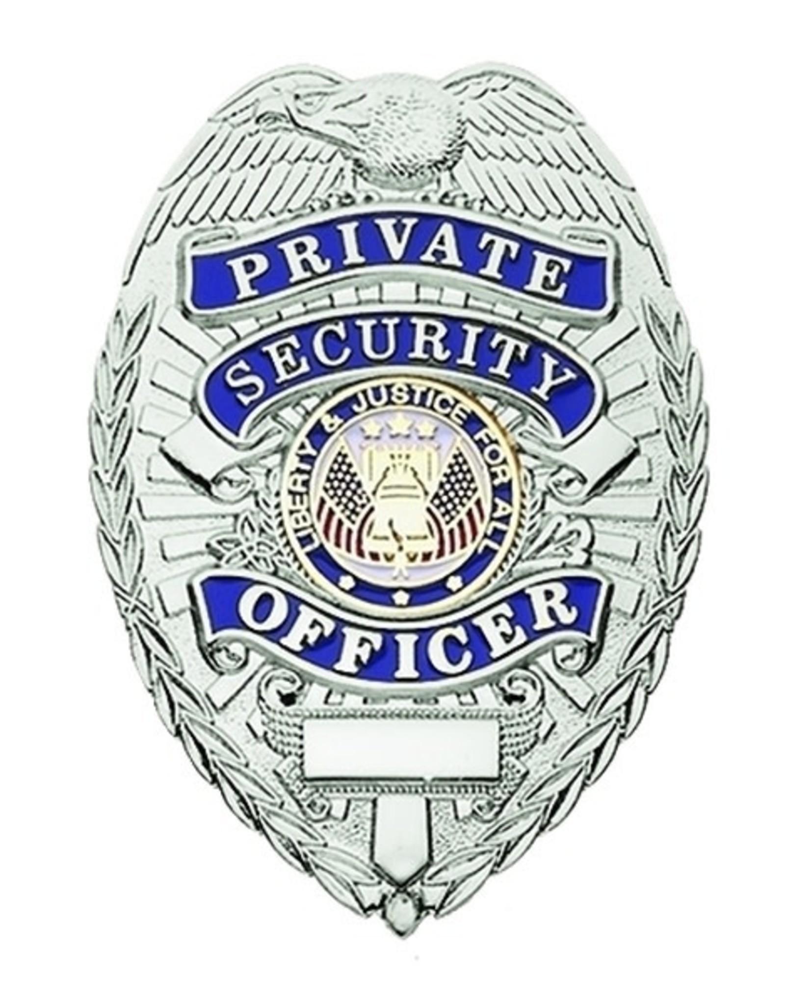 Hero's Pride Hero's Pride Silver & Blue Security Officer Badge, Traditional
