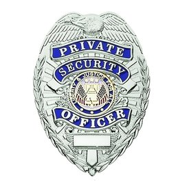 Hero's Pride Hero's Pride Silver & Blue Private Security Officer Badge, Traditional