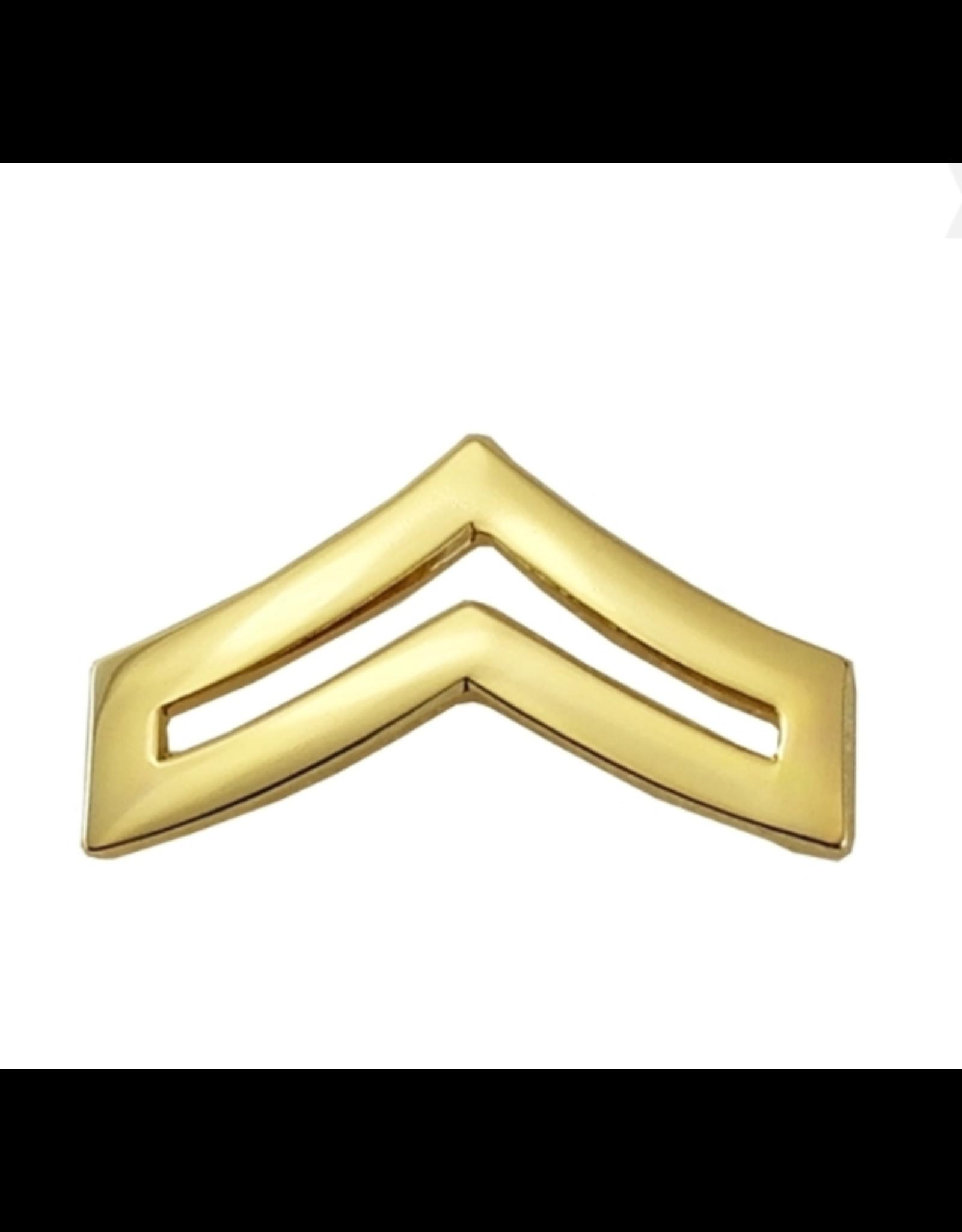 "Hero's Pride Pairs Cpl. Chevron Regular 1"" Gold 2 Clutch"