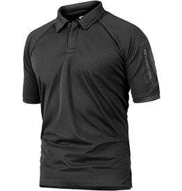 Crysully Crysully Mens Bottons Shirt Urban Sportswear Uniform Short Sleeve Leisure Polo Shirt (Blue - 2X Large)