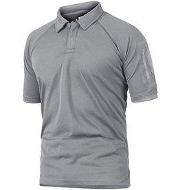 Crysully Crysully Basic Style Short Sleeve Turn down Collar Golf Polo Shirt  (Light Grey - Medium)