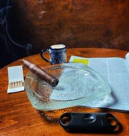Vintage Finds Vintage Lined Glass Small Cigarette Ashtray