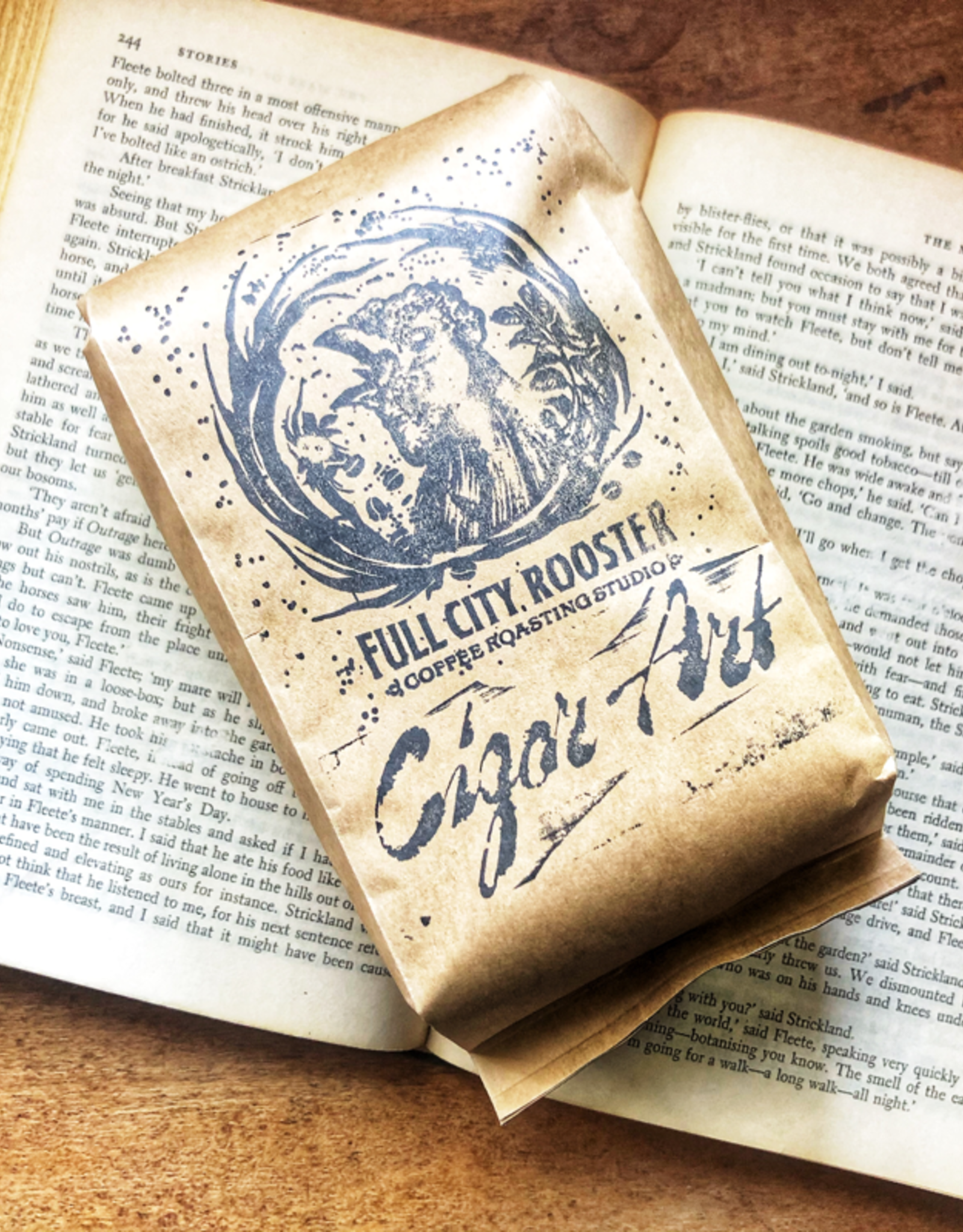 Full City Rooster Full City Rooster Coffee: Cigar Art Exclusive 12oz Whole Bean