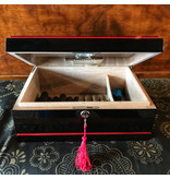 VSOL Humidor Black & Red 75 Count