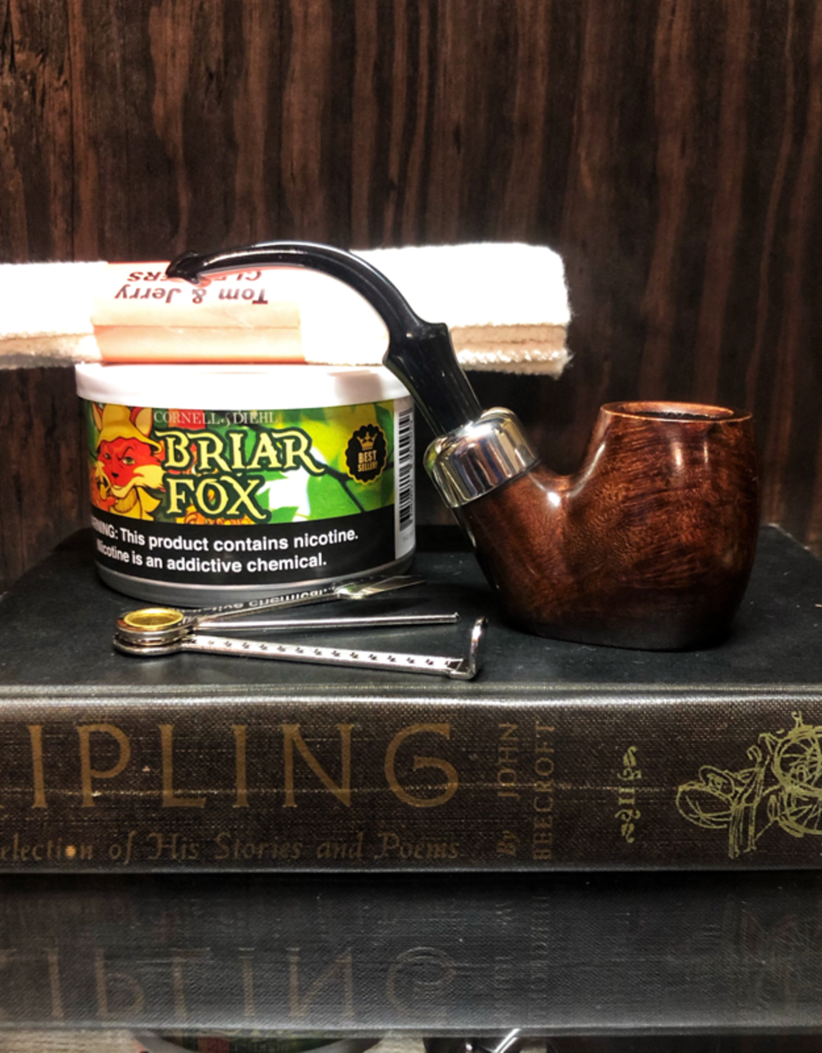 Cigar Art Briar Fox Pipe Kit with Peterson Pipe