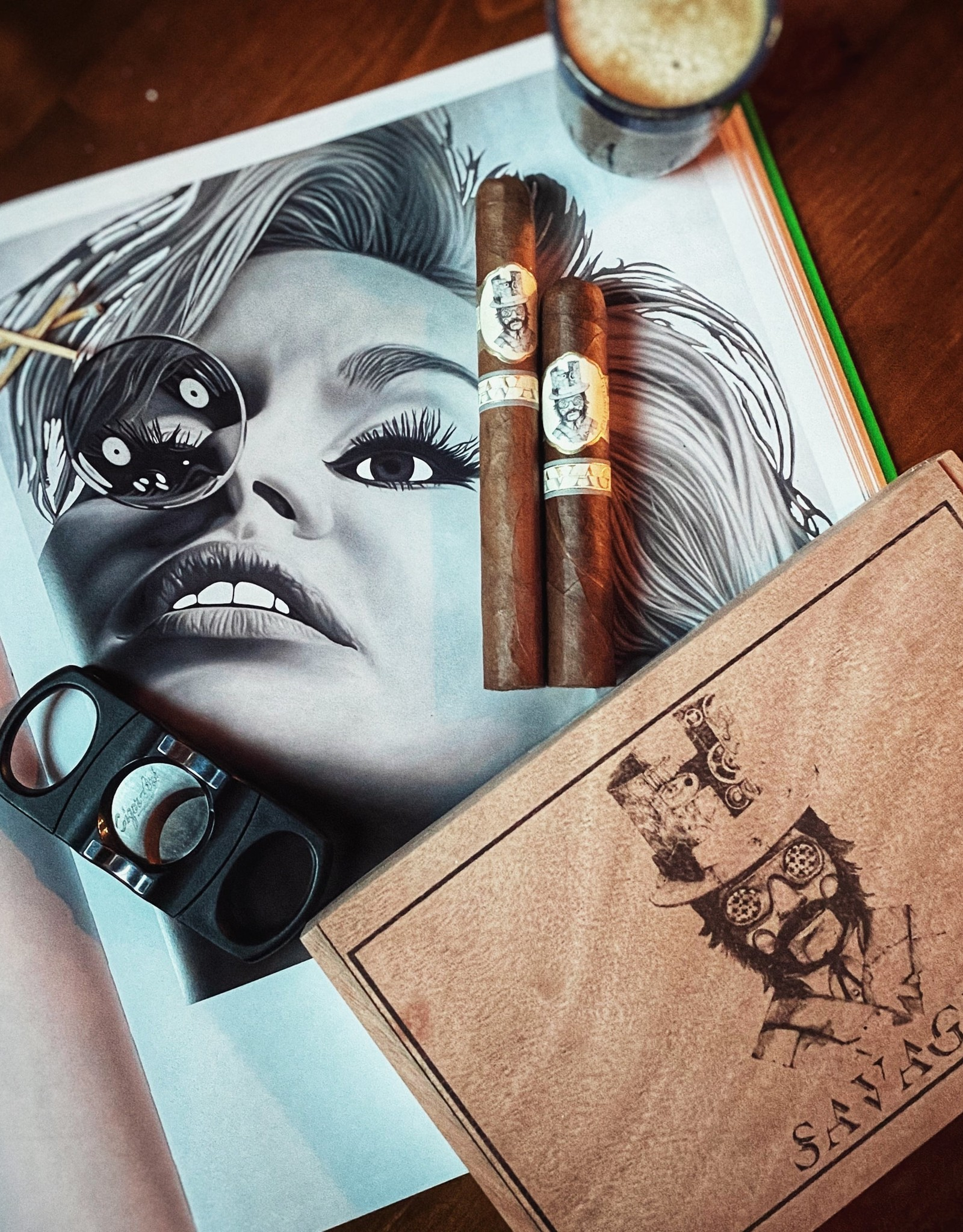 Caldwell Cigar Co Caldwell Savages Super Rothschild 4.75 x 52 Single