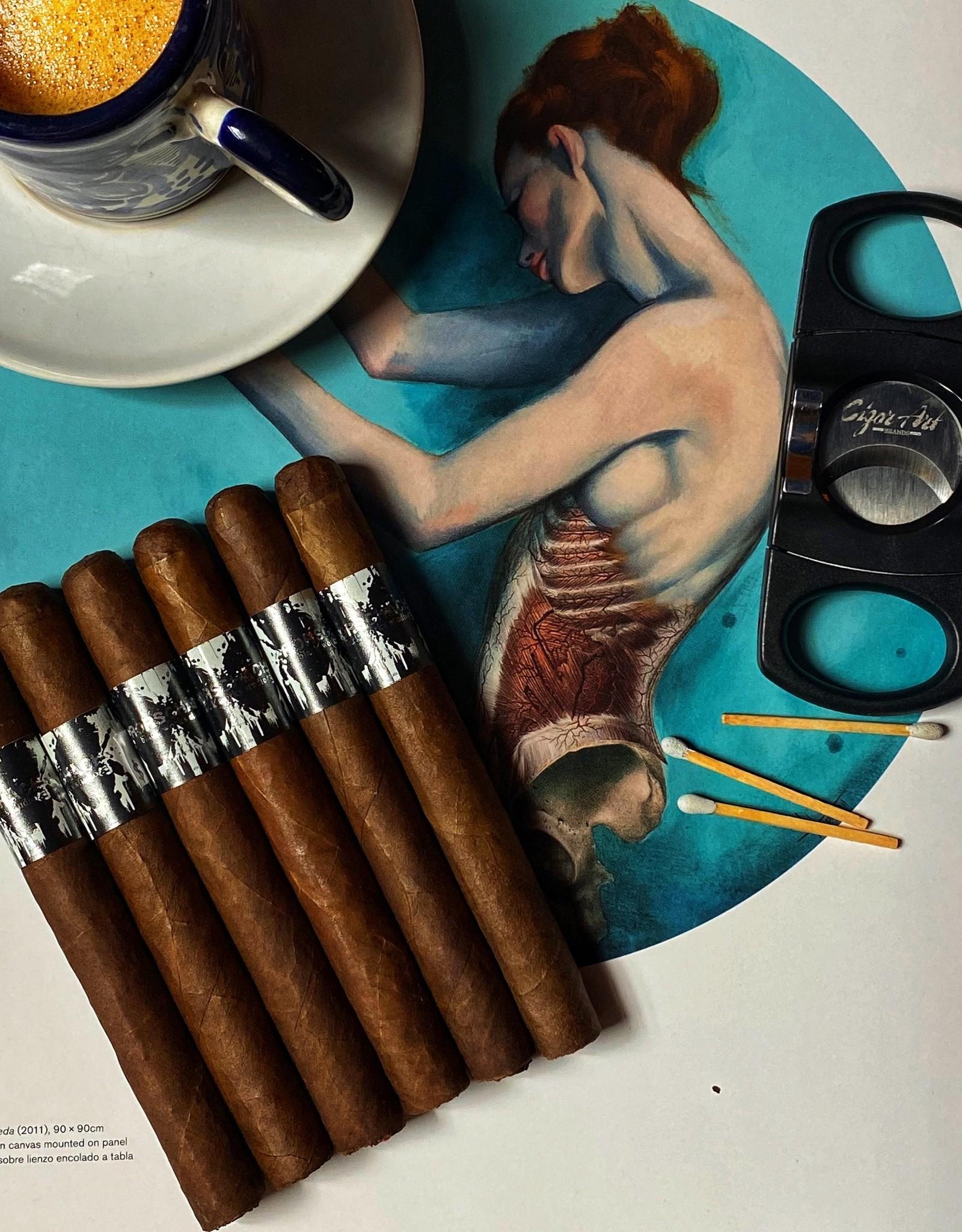 Cigar Art Copy of Copy of Black Works Studio Rorschach Petit Panatella 5 x 38 Flight of 6