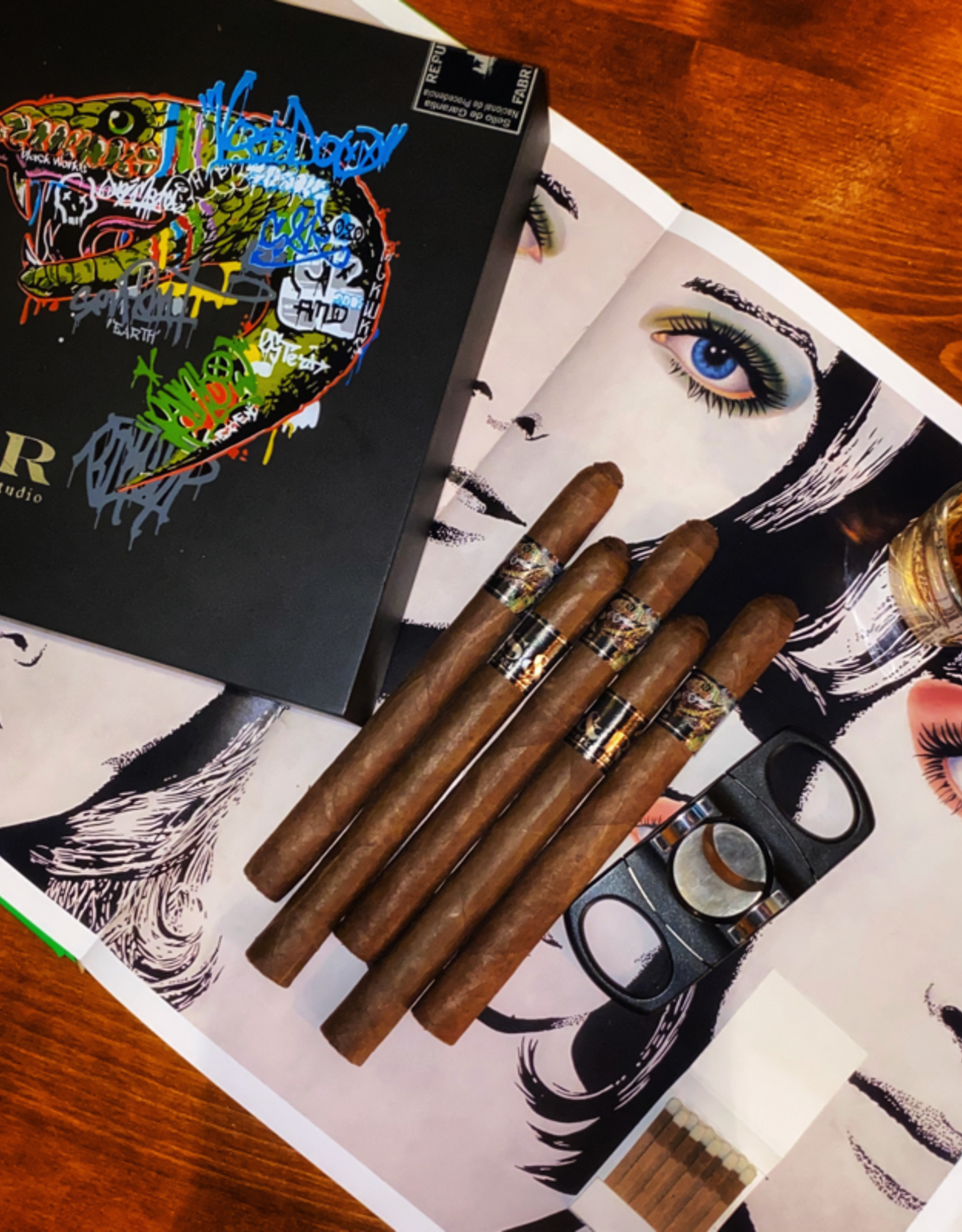 Black Label Trading Co Black Works Studio Serpent & Rainbow Lancero 6.75 x 42