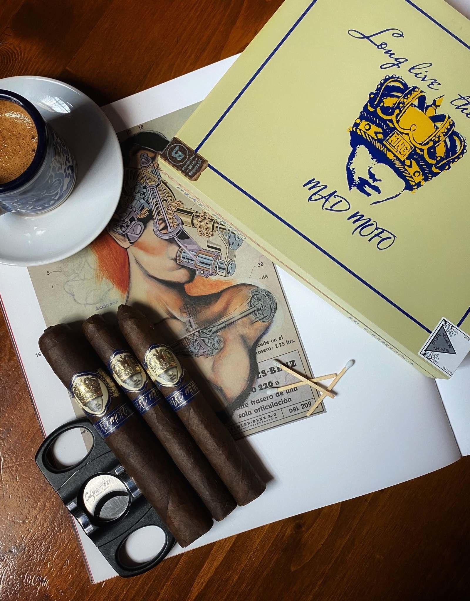 Caldwell Cigar Co Caldwell Long Live The King Mad Mofo Magnum 6 x 60