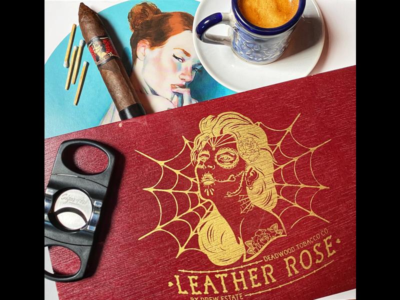 Drew Estate Deadwood Leather Rose Belicoso  5 x 54