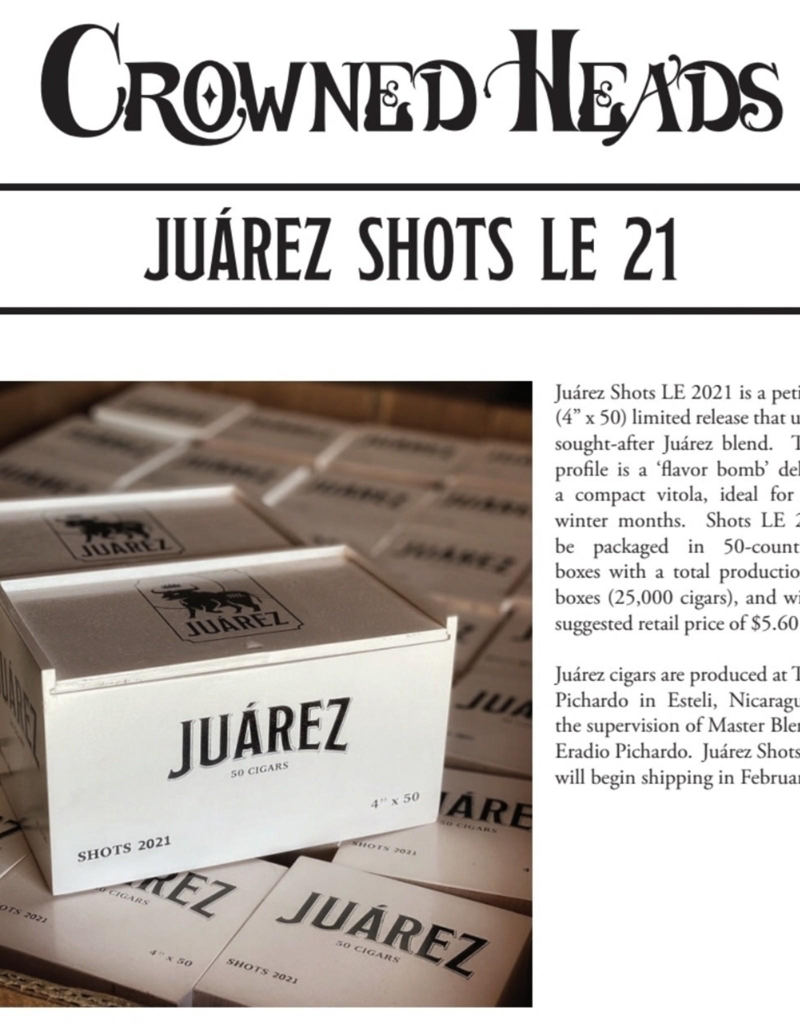 Crowned Heads Juarez Shots 2021 LE 4x50