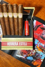 Drew Estate Herrera Esteli Habano Flight of 5 with Lighter