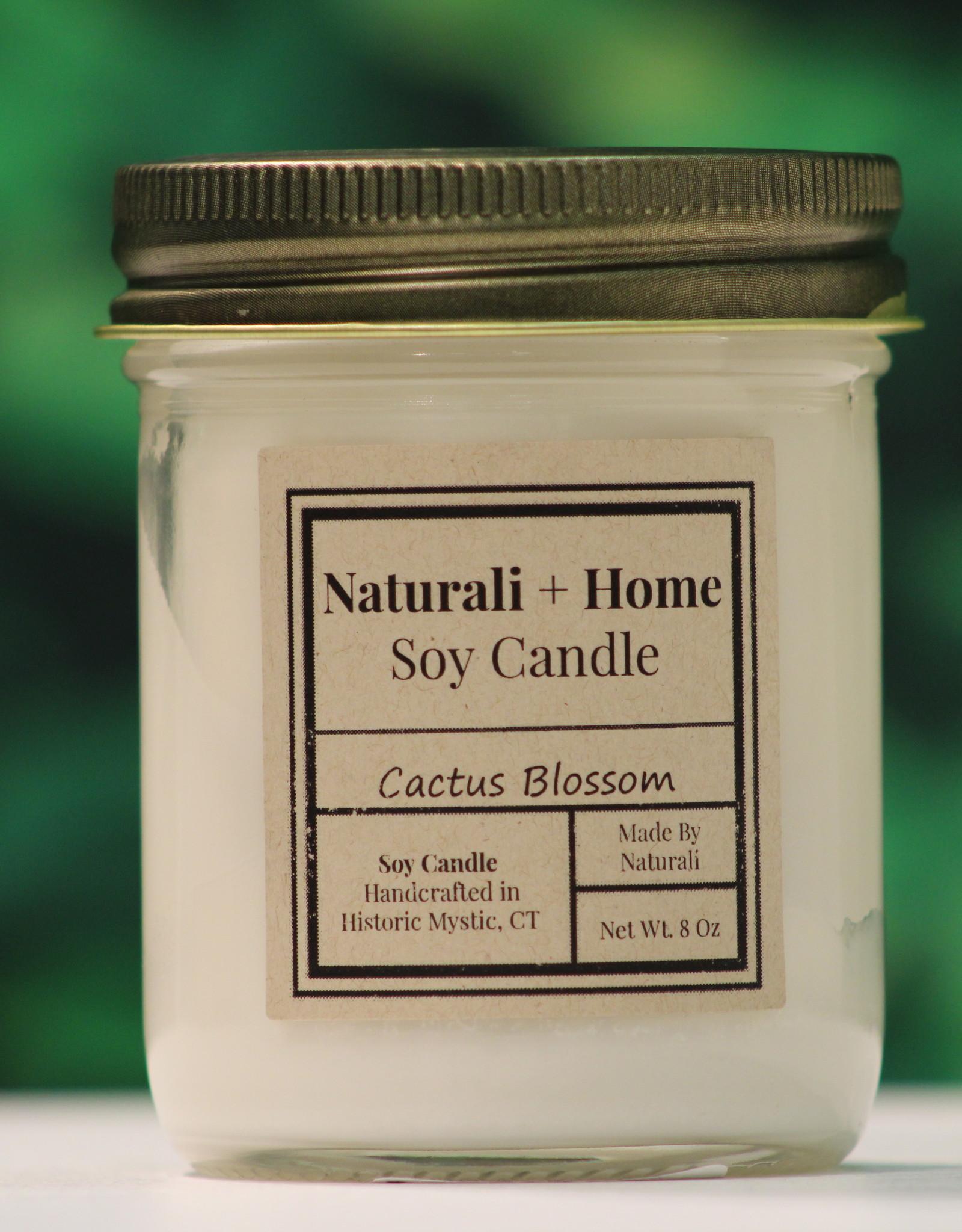 Naturali Home Cactus Blossom Soy Candle (8oz)