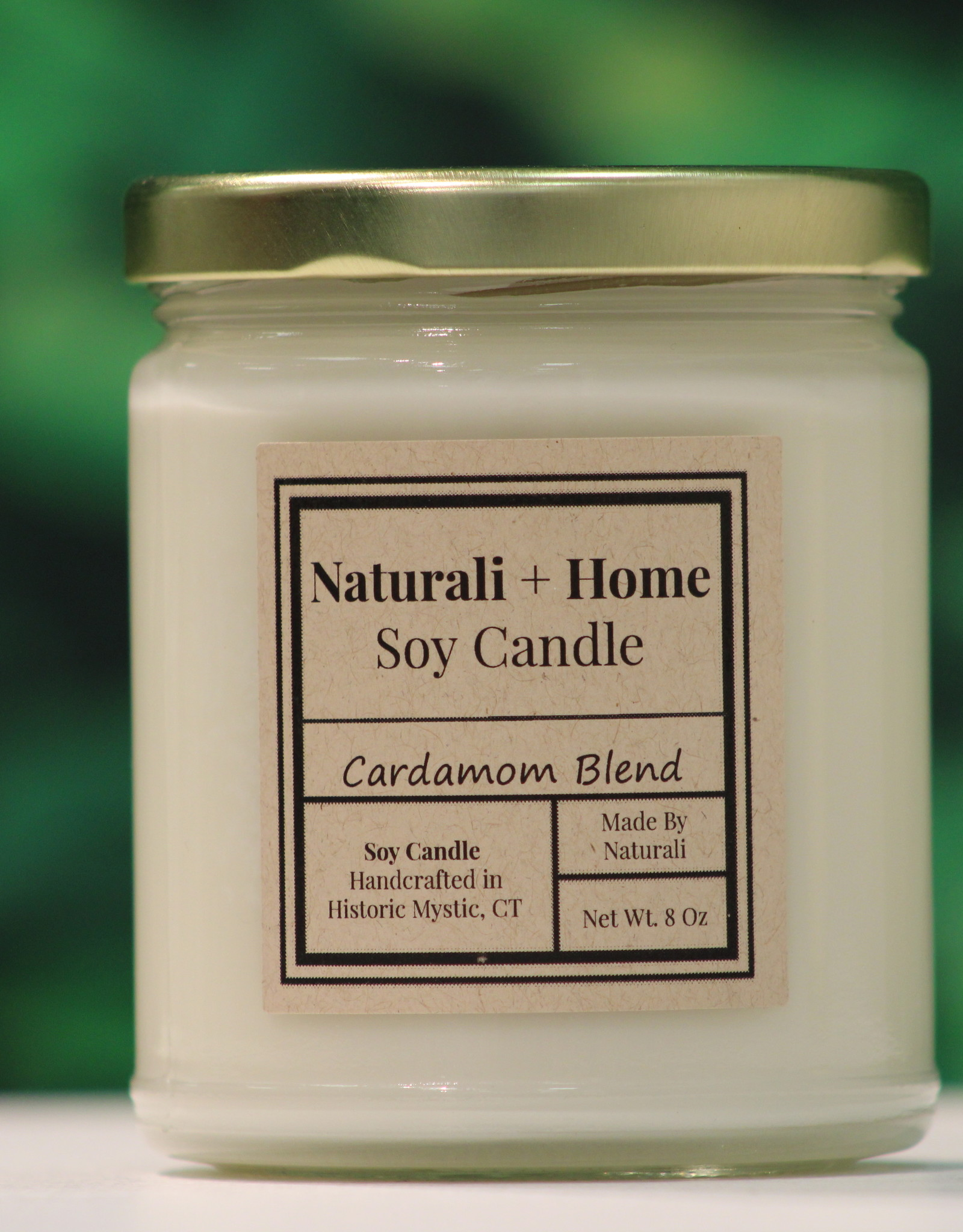 Naturali Home Cardamom Blend Soy Candle (8oz)
