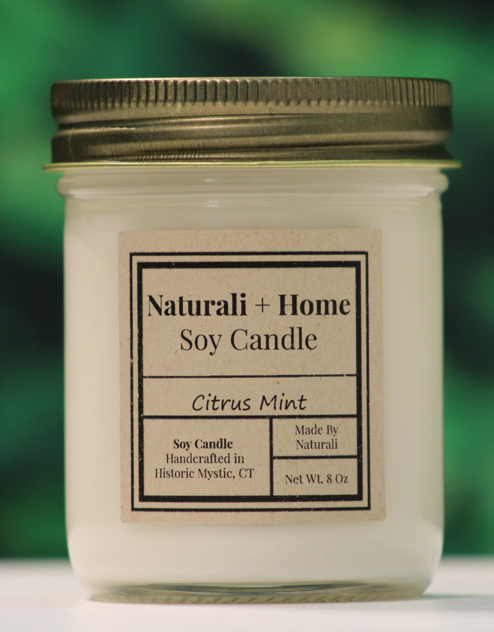 Naturali Home Citrus Mint Soy Candle (8oz)