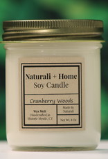 Naturali Home Cranberry Woods Soy Candle (8oz)