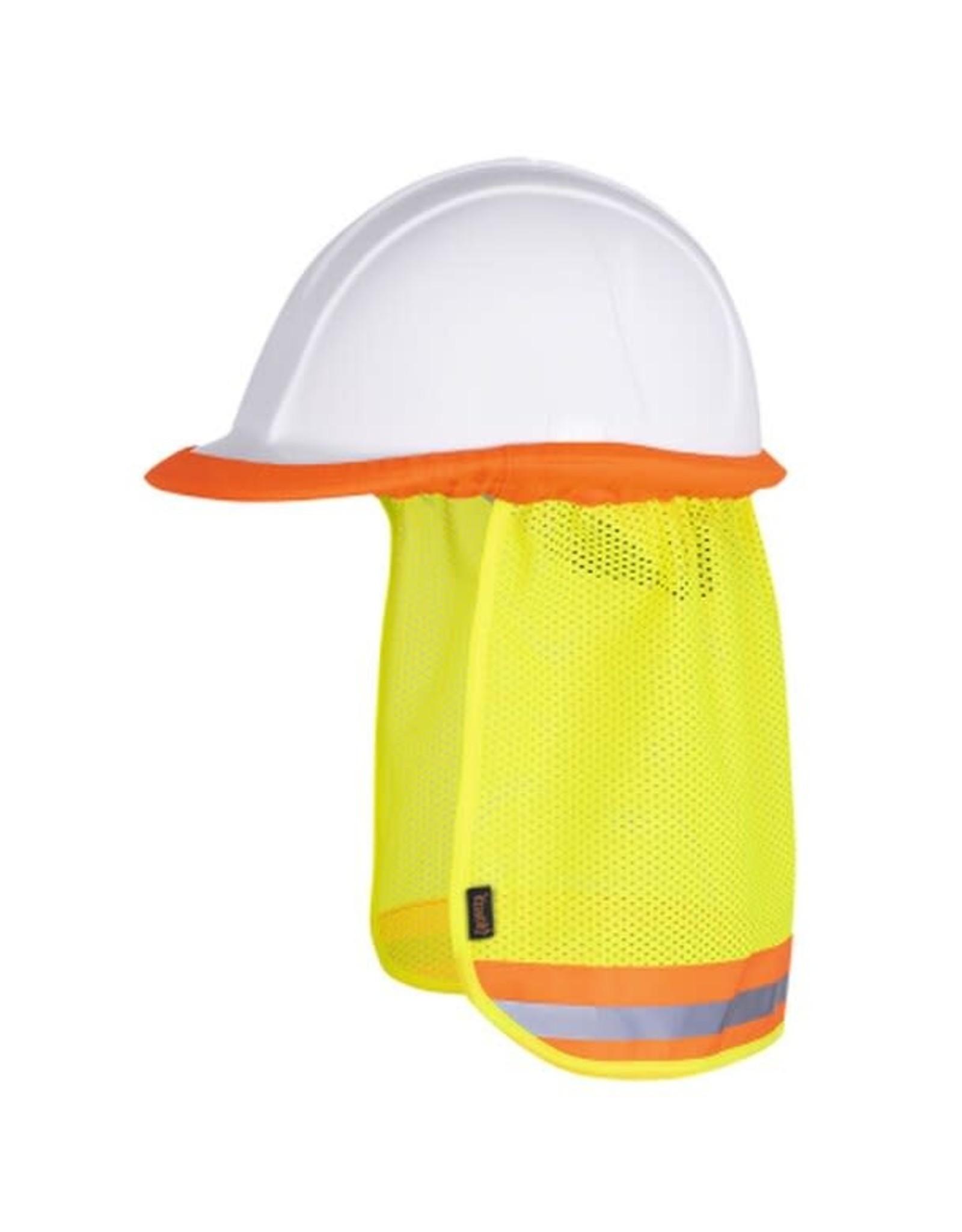 Hard hat mesh sun shade yellow