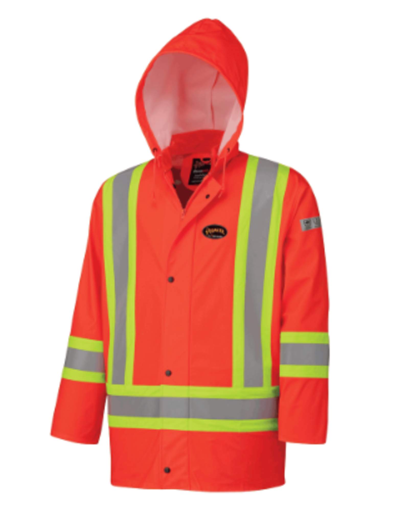 FR PU Rain Jacket, FR Tape CSA -Z96-09..Orange